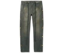 Cotton-Canvas Drawstring Trousers