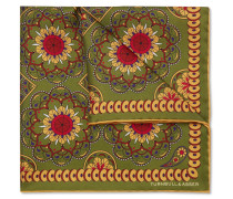 Printed Silk-twill Pocket Square - Green