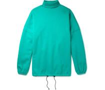 Oversized Fleece-back Cotton-blend Jersey Rollneck Sweatshirt