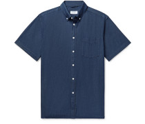 Button-Down Collar Denim Shirt