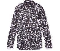 Irving Printed Stretch-cotton Shirt