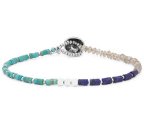 Multi-stone And Sterling Silver Bracelet - Turquoise