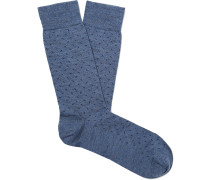 Merino Wool-Blend Jacquard Socks