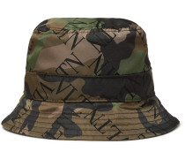 Logo And Camouflage-print Shell Bucket Hat - Green