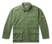 Logo-Detailed Printed Cotton Jacket