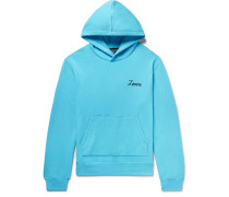 Appliquéd Fleece-back Cotton-jersey Hoodie