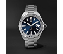Aquaracer Quartz 41mm Steel Watch - Silver