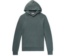 Mélange Slub Loopback Cotton-jersey Hoodie