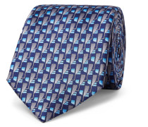 7cm Patterned Silk Tie