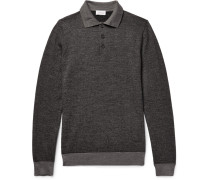 Herringbone Virgin Wool-blend Polo Shirt