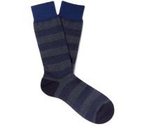 Theed Striped Merino Wool-Blend Jacquard Socks