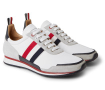 Grosgrain and Suede-Trimmed Nylon Sneakers