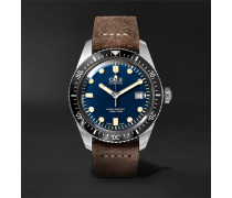 Divers Heritage Sixty-five 42mm Stainless Steel And Burnished-leather Watch