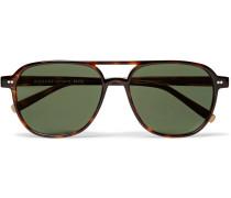 Bjorn Aviator-style Tortoiseshell Acetate Sunglasses