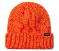 Watch Cap Ribbed Wool Beanie - Orange