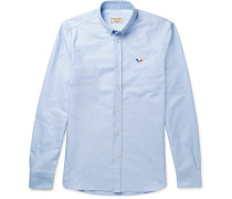 Slim-fit Button-down Collar Cotton Oxford Shirt - Blue