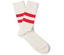Bjarki Striped Stretch Cotton-blend Socks