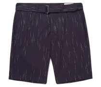 Julian Striped Cotton, Wool And Cashmere-blend Shorts