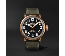 Pilot Type 20 Extra Special Automatic 40mm Bronze And Nubuck Watch - Black