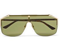 Endura Oversized Aviator-style Gold-tone And Tortoiseshell Acetate Sunglasses