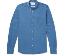 Anton Button-down Collar Denim Shirt - Blue