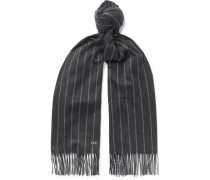 Striped Fringed Baby Cashmere Scarf
