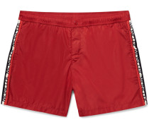 Mid-length Grosgrain-trimmed Swim Shorts