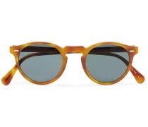 Gregory Peck Round-frame Tortoiseshell Acetate Photochromic Sunglasses - Brown