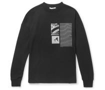 Printed Cotton-blend Jersey T-shirt