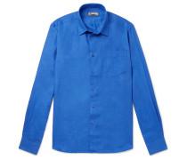 Caroubis Linen Shirt - Blue