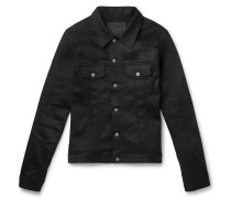 Lou Slim-fit Stretch-denim Trucker Jacket - Black