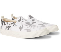 Printed Canvas Slip-On Sneakers