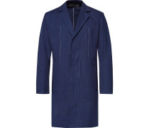 Slim-fit Indigo-dyed Cotton-twill Jacket