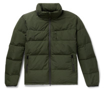 Quilted Shell Hooded Down Jacket