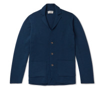 Oxland Slim-fit Virgin Wool Cardigan - Indigo