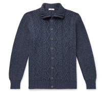 Cable-Knit Merino Wool Cardigan
