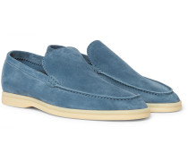 Summer Walk Suede Loafers - Blue