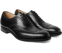 Berlin Leather Wingtip Brogues - Black