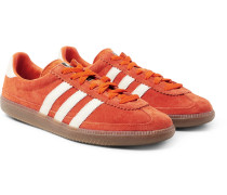 Spezial Whalley Leather-trimmed Suede Sneakers - Orange