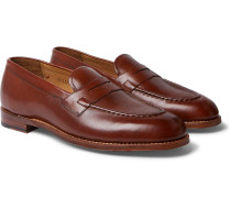 Lloyd Leather Penny Loafers - Brown