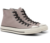 1970s Chuck Taylor All Star Canvas High-top Sneakers - Taupe