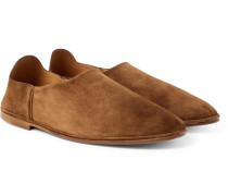 Fes Collapsible-heel Suede Loafers
