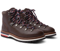 Peak Pebble-grain Leather Hiking Boots - Brown