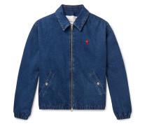 Logo-Appliquéd Denim Blouson Jacket