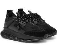 Chain Reaction Panelled Mesh Sneakers - Black
