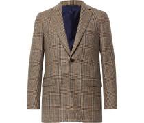Brown Kincaid No 3 Slim-Fit Checked Wool-Hopsack Blazer