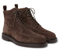 Jacques Shearling-lined Suede Boots - Chocolate