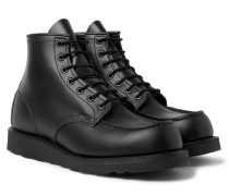 8137 Moc Leather Boots - Black