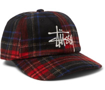 Logo-Embroidered Checked Flannel Baseball Cap