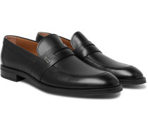 Coventry Leather Penny Loafers - Black